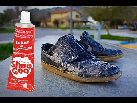 Skate Shoes 100 Covered In Shoe Goo Youtube