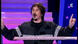 Arnaud Tsamere [49] Un pompier veut garder sa barbe et sa queue de cheval - ONDAR