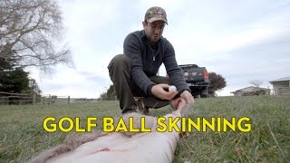 Skinning a Deer with a Golf Ball and an Amarok