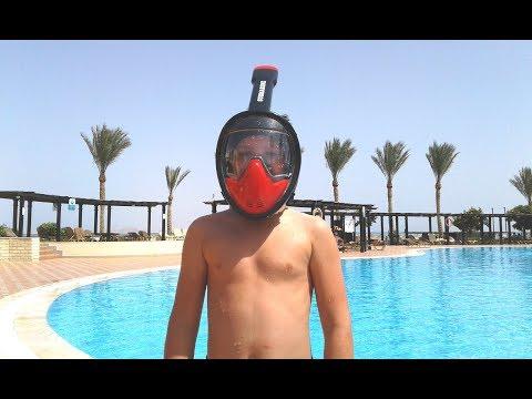 Тест СУБМАРИНЫ  в Египте. Подводная панорамная маска для снорклинга, плавания  SUBMARINE.