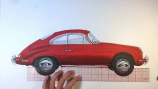Time Lapse Drawing - Porsche 356