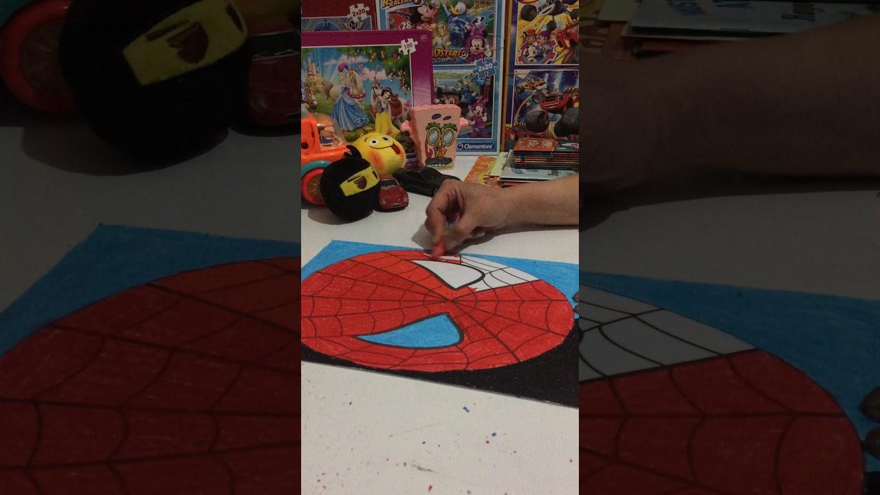 Spiderman Boyama Maske Orumcek Adam Boyama Oyun Boyama Puzzle