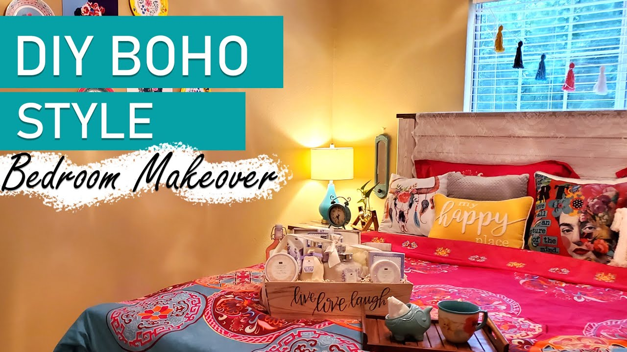 BOHEMIAN BEDROOM HOME DECOR | DIY BOHO BEDROOM - Apartment ... on Bohemian Bedroom Ideas On A Budget  id=43822