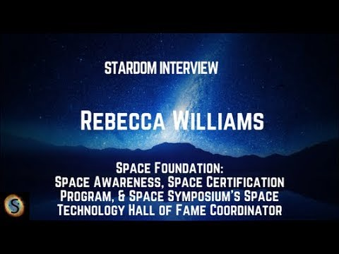 Stardom Interview: Rebecca Williams, Space Awareness, Space Foundation