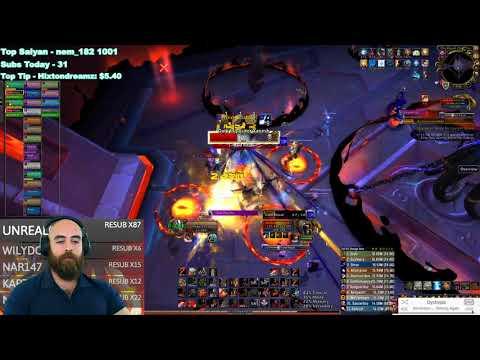 MYTHIC XANESH: 473 Fury Warrior (80k DPS) - WoW BFA Ny'alotha Mythic Raid (6/12)