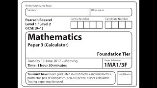 showing 1st image of 2018 May June Cxc Maths Paper 2018 Predicted Maths GCSE Paper 3 Edexcel (Foundation ...