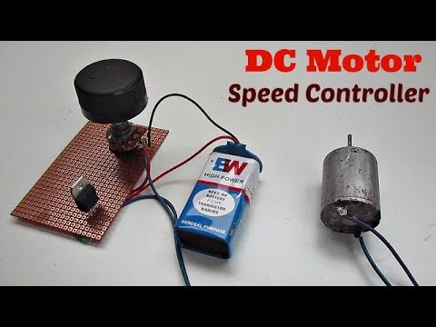 Motor speed controller how to make a simple dc motor for How to build a motor controller