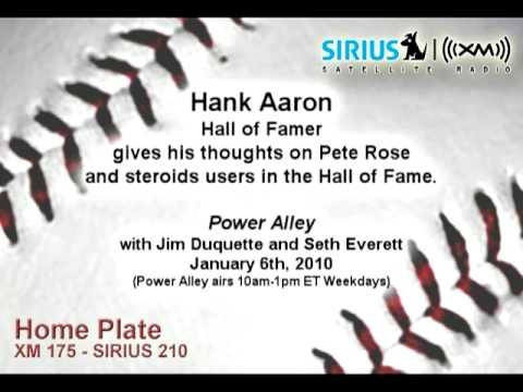 HOF Hank Aaron on Pete Rose and steroids in the Hall of Fame - Sirius|XM Radio