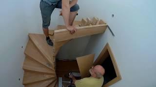 """Výroba dřevěného schodiště """"Víla"""""""