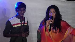 Actress Mousumi is performing with MagicSing Bangla Karaoke