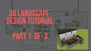 3D Landscape Design Tutorial Part 1 of 3 - SketchUp Alternative