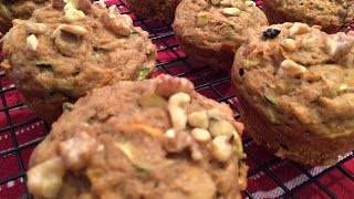 Gambar cover Carrot Apple and Zucchini Muffins
