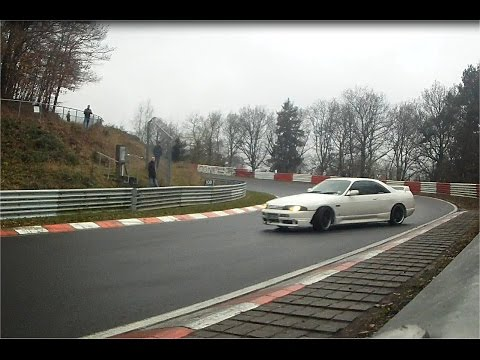 Touristenfahrten Nurburgring Nordschleife 15.11.2014 (Wet Track) Crash Barrier Cam Un-Edited