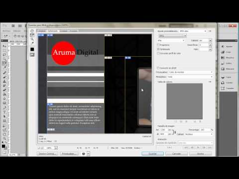 Photoshop 045 Diseño Web Conversion Simple A Html Con Sectores