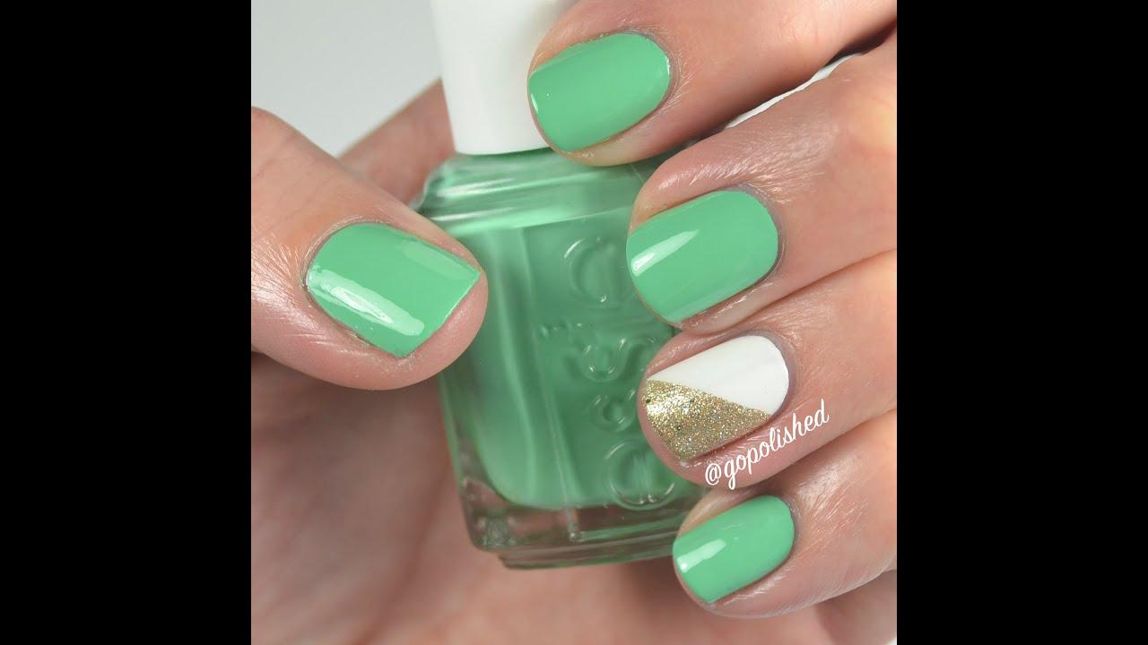 Nail Tutorial: Easy St Patrick\'s Day Nails - YouTube