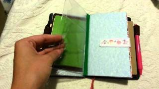 personal travelers notebook with a6 hobonichi avec