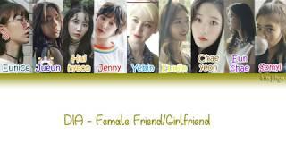 DIA (다이아) – Female Friend/Girlfriend (Between Us) 여.사.친 (우리사이) Lyrics (Han|Rom|Eng|COLOR CODED)