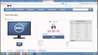 Test Autobid - Wotbid.com - Penny Auction SoftWare