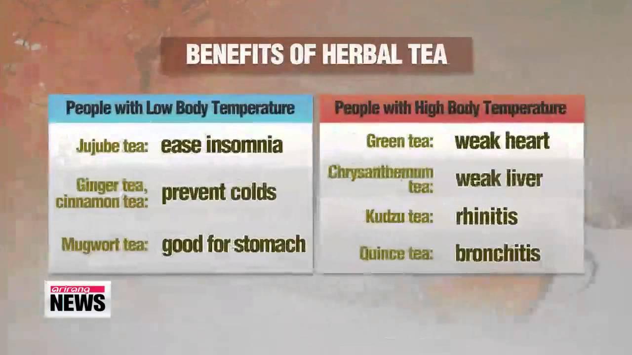 Herb teas that help keep body healthy during cold weather 가을차는 영양차   마시는 보약