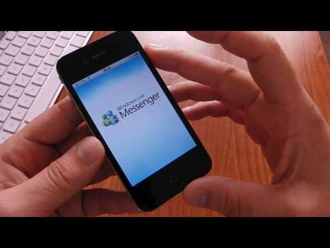 Microsoft MSN Messenger su iPhone 4 videoprova HD