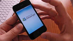 Microsoft MSN Messenger su iPhone 4 videoprova HD