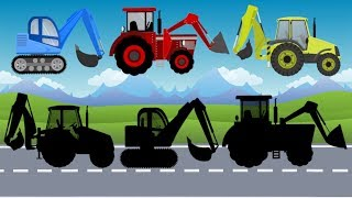 What Cabin? Excavator, Tractor, Dump Truck & Loader | Construction Toy Vehicles for Kids