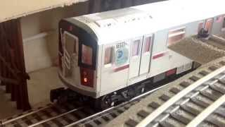 mth subway mth r142a 4 train subway action round trip