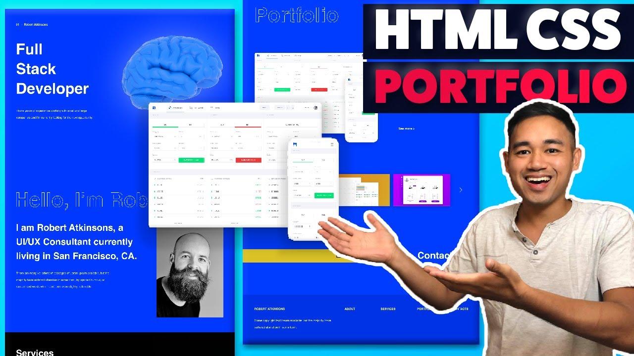 Responsive HTML CSS Portfolio Website using Flexbox and Grid