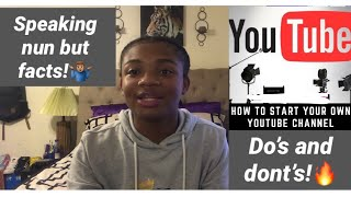 Honest Advice On Starting A Youtube Channel!📲
