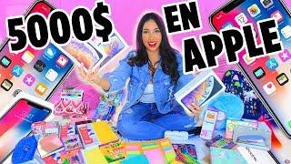 SORTEO VUELTA A CLASES - GASTE $5000 DOLARES EN LA TIENDA APPLE 😱3 IPHONES XS MAX | Mariale
