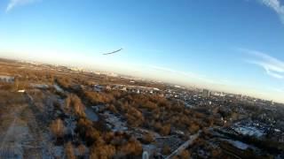 Совместный полёт авиамоделей Skywalker и летающего крыла. FPV, SJCAM 5000(Попытка особым успехом не увенчалась. Мой скай весит почти 4кг, и имеет минимальную скорость полёта 40 км...., 2015-11-29T17:03:12.000Z)
