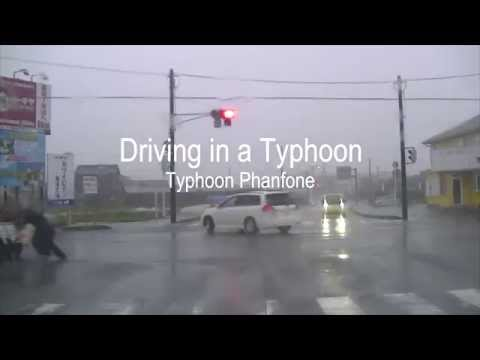 Driving in Japan: Typhoon