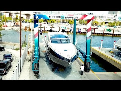 BFMII Mobile Boat Hoist Series Overview   Marine Travelift