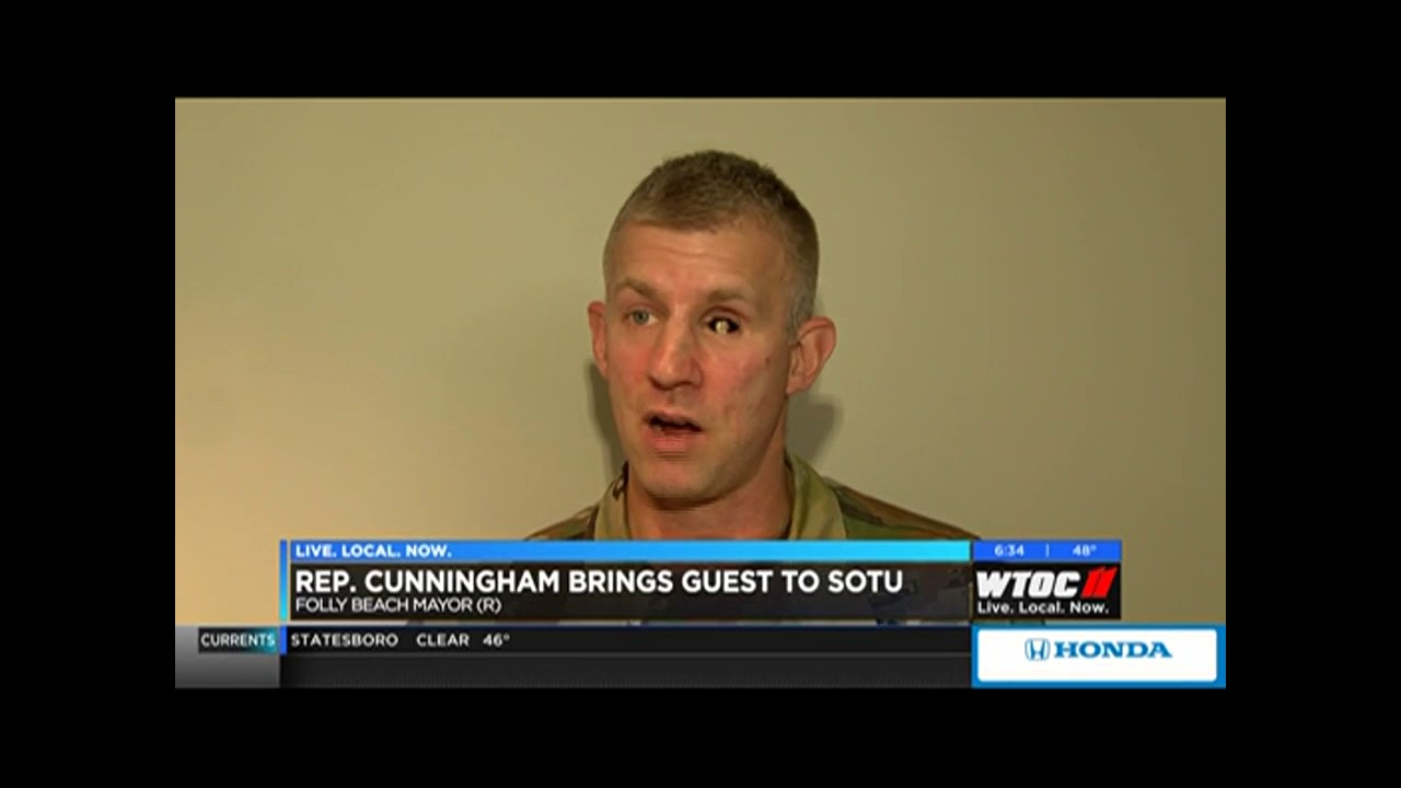 Rep  Carter to have Lt  Col  Kenneth Dwyer as SOTU guest (WTOC)