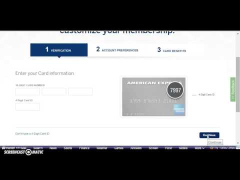 American Express (Amex) Credit Card Login