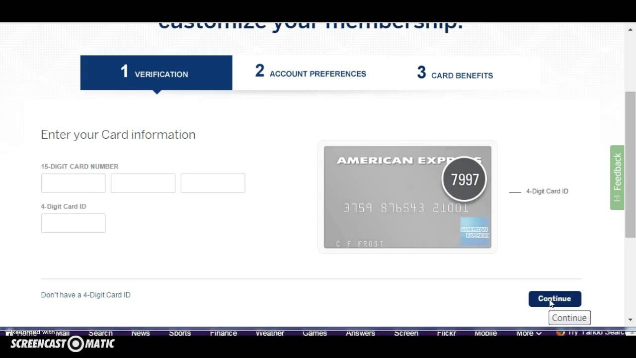 Am Ex Login >> American Express Amex Credit Card Login
