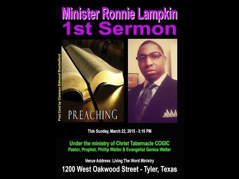 Ronnie Lampkin - First Sermon - March 2015 - DVD / Video Trailer