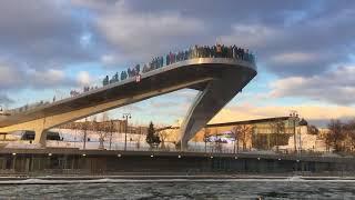Москва, парк Зарядье, 23 февраля 2018 года. Самое красивое место в Москве.