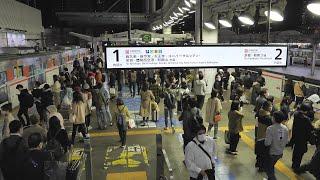 JR西日本 大阪駅1・2番線 大阪環状線ホーム 2020/11(4K UHD 60fps)