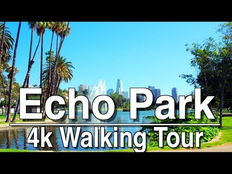 ⁴ᴷ Walking Tour Echo Park | 4k Dji Osmo | Ambient Music
