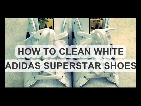 ☆ How to clean Adidas superstar white shoes with baking powder ☆