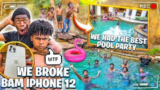 WE HAD THE BEST POOL PARTY EVER & JAY BROKE BAM IPHONE12!💔