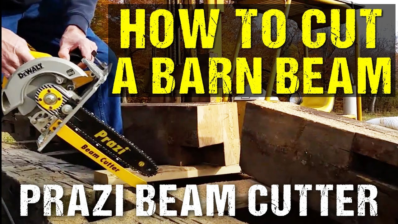 How To Cut A Big Barn Beam With Prazi Beam Cutter Youtube