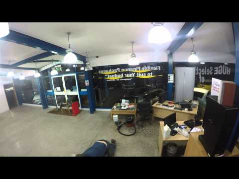 Denbury Diesels, Cleaning Showroom Floor with a difference