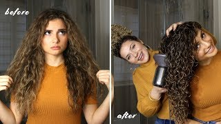 HOW I STYLE MY SISTER'S LONG CURLY HAIR FOR THE BEST VOLUME AND DEFINITION