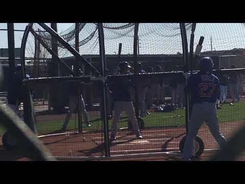 Chicago Cubs SS Luis Vasquez Mini Camp BP 2/27/2018