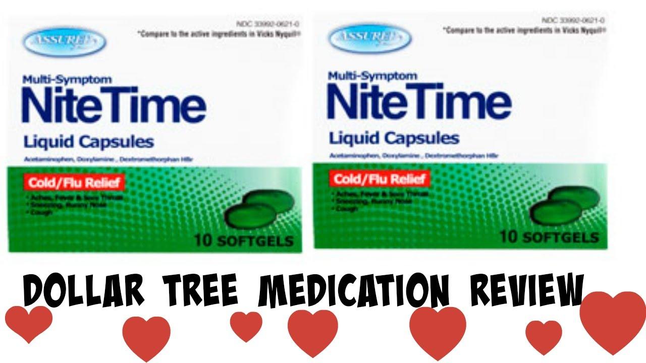 Dollar Tree Meds  Nitetime Liquid Capsules Review - YouTube