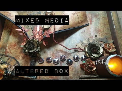 Steampunk Mixed Media Box-SOLD!
