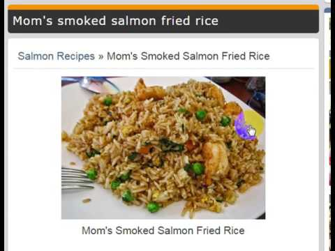 Salmon Recipes » Mom's Smoked Salmon Fried Rice