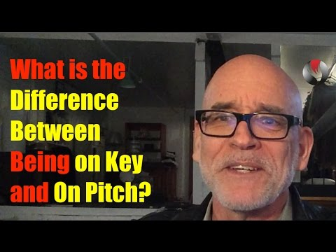 What is the difference between being on key and on pitch?